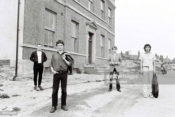 Photo of Andy GILL and GANG OF FOUR and Jon KING and Dave ALLEN LR Hugo Burnham Dave Allen Andy Gill Jon King