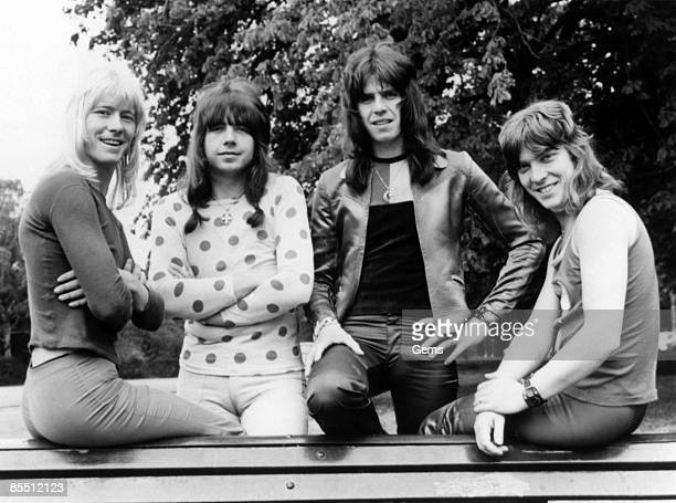 Photo of Andy SCOTT and SWEET and Brian CONNOLLY and Mick TUCKER LR Brian Connolly Andy Scott Mick Tucker Steve Priest