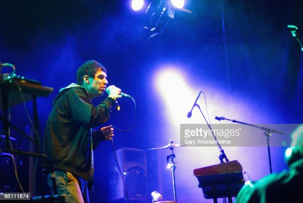 FESTIVAL Photo of ANIMAL COLLECTIVE Avey Tare performing on stage