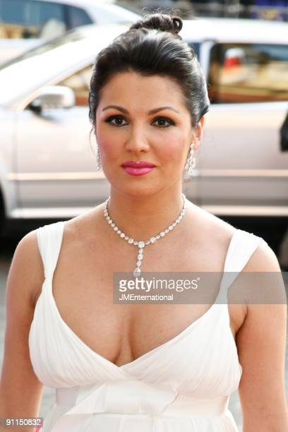 HALL Photo of Anna NETREBKO Portrait of Russian soprano Anna Netrebko arriving at the Classical Brit Awards