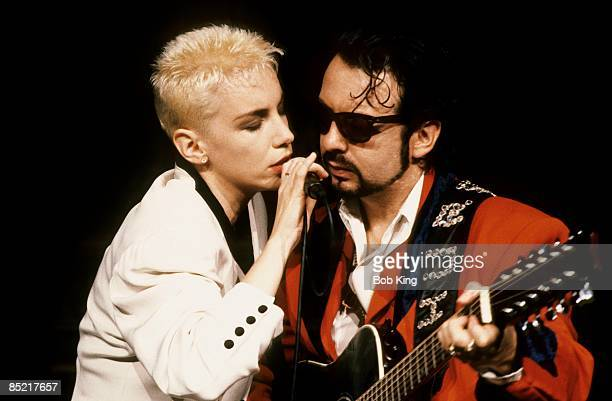 Photo of Annie LENNOX and Dave STEWART and EURYTHMICS LR Annie Lennox Dave Stewart