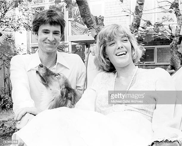 Photo of Anthony Perkins with wife Berry Berenson. Photo by Michael Ochs Archives/Getty Images