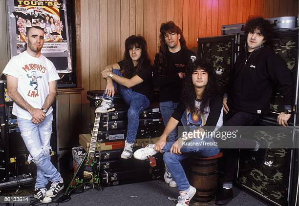 Photo of Anthrax Anthrax photographed in New York City in 1989