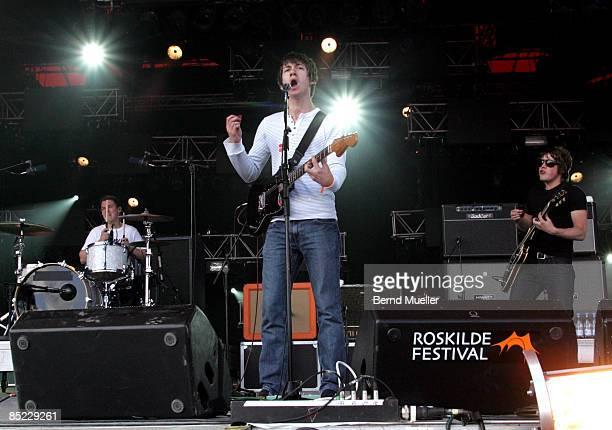 FESTIVAL Photo of ARCTIC MONKEYS Musik music Rock Pop Rock n roll Reggae live in concert live on stage Roskilde Music Festival 2007 Denmark DSnemark...