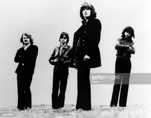 Photo of ARGENT and Jim RODFORD and Bob HENRIT and Russ BALLARD and Rod ARGENT Posed group portrait LR Jim Rodford Russ Ballard Rod Argent and Bob...