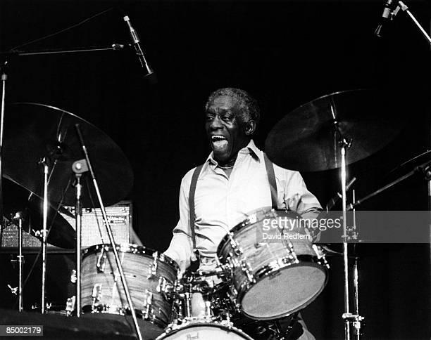 Photo of Art BLAKEY Drummer Art Blakey performing on stage