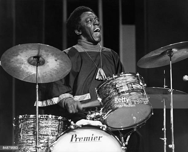 MALTINGS Photo of Art BLAKEY performing on BBC TV show playing Premier drum kit drums
