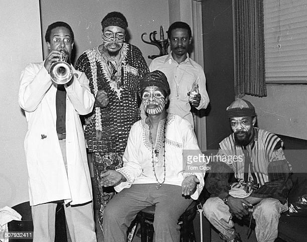 Photo of Art Ensemble of Chicago performing in Berkeley California Circa 1979