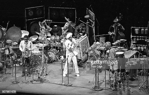 Photo of Art Ensemble of Chicago performing in Berkeley California Circa 1980