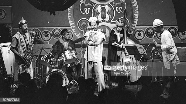 Photo of Art Ensemble of Chicago performing in San Francisco California Circa 1976