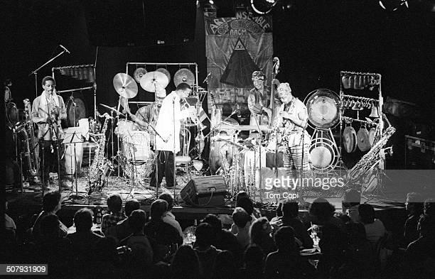 Photo of Art Ensemble of Chicago performing in San Francisco California Circa 1983