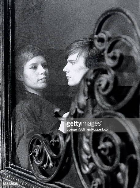 Photo of Astrid KIRCHHERR and Stuart SUTCLIFFE of the BEATLES in Hamburg Germany in April 1961
