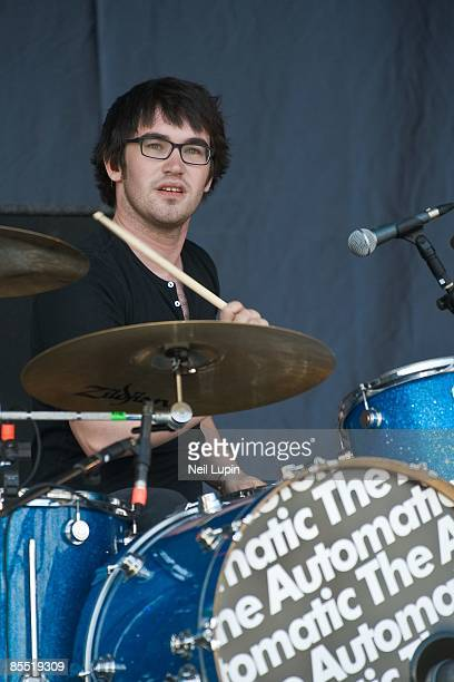FESTIVAL Photo of AUTOMATIC and Iwan GRIFFITHS Drummer Iwan Griffiths performing on stage