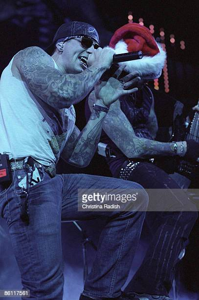 Photo of AVENGED SEVENFOLD M Shadows Synyster Gates at the KROQ Almost Acoustic Christmas Night held at the Gibson Amphitheatre in Universal City