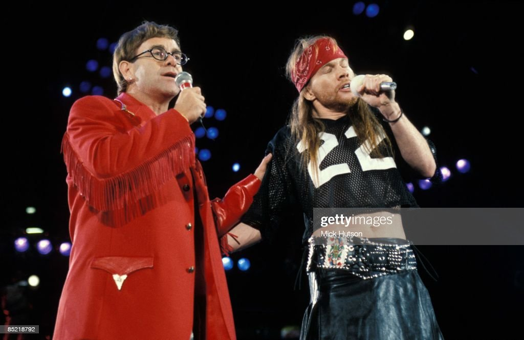 Photo of Axl ROSE and Elton JOHN : News Photo