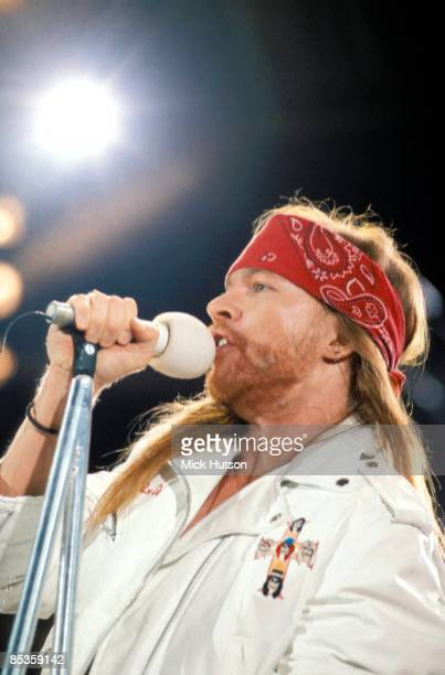 STADIUM Photo of Axl ROSE and GUNS N' ROSES and GUNS ROSES and GUNS AND ROSES Axl Rose performing live onstage at the Freddie Mercury Tribute Concert