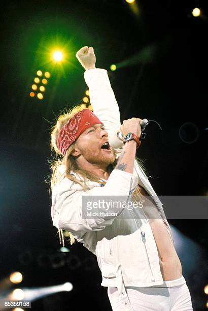 Photo of Axl ROSE and GUNS N' ROSES and GUNS & ROSES and GUNS AND ROSES, Axl Rose performing live onstage at the Freddie Mercury Tribute Concert