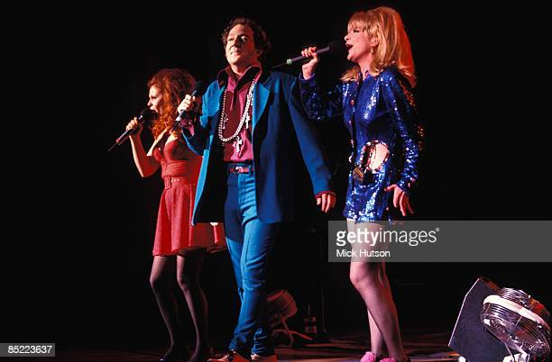 Photo of B-52's and B52'S and Cindy WILSON and Fred SCHNEIDER and Kate PIERSON; L-R: Cindy Wilson, Fred Schneider, Kate Pierson