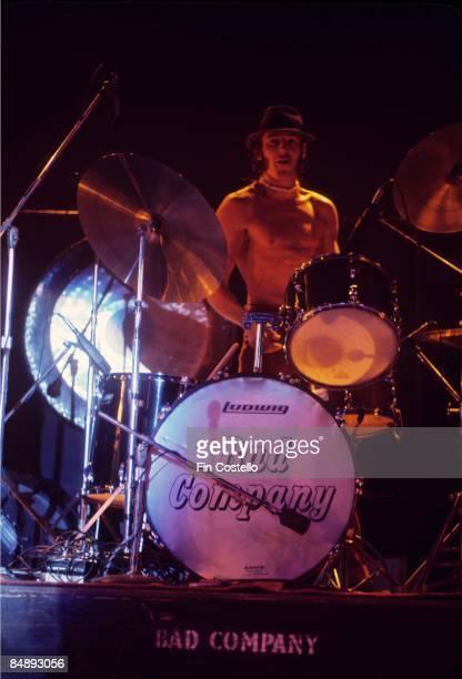 Photo of BAD COMPANY and Simon KIRKE Drummer Simon Kirke performing on stage