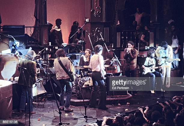 BALLROOM Photo of BAND Eric Clapton @ The Band's Last Waltz Winterland Arena San Francisco LR Ringo Starr Neil Young Levon Helm Robbie Robertson Paul...