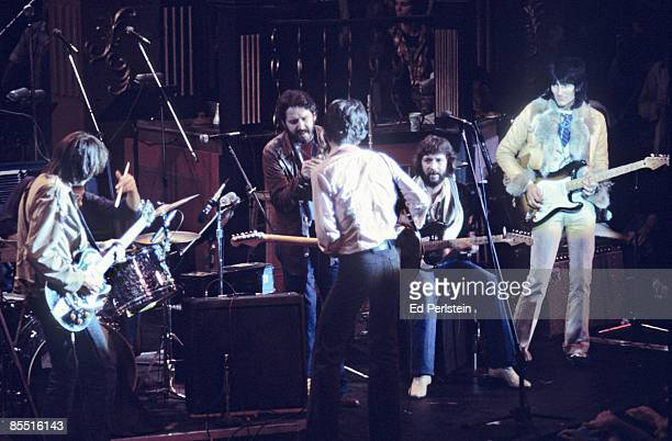 BALLROOM Photo of BAND Eric Clapton @ The Band's Last Waltz Winterland Arena San Francisco LR Neil Young Paul Butterfield Robbie Robertson Eric...