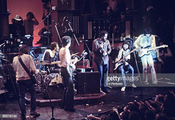 BALLROOM Photo of BAND Eric Clapton @ The Band's Last Waltz Winterland Arena San Francisco LR Neil Young Levon Helm Robbie Robertson Paul Butterfield...