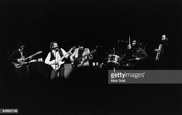 Robbie Robertson Levon Helm Rick Danko Richard Manuel Garth Hudson performing live onstage