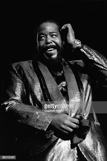 Photo of Barry WHITE Barry White performing on stage