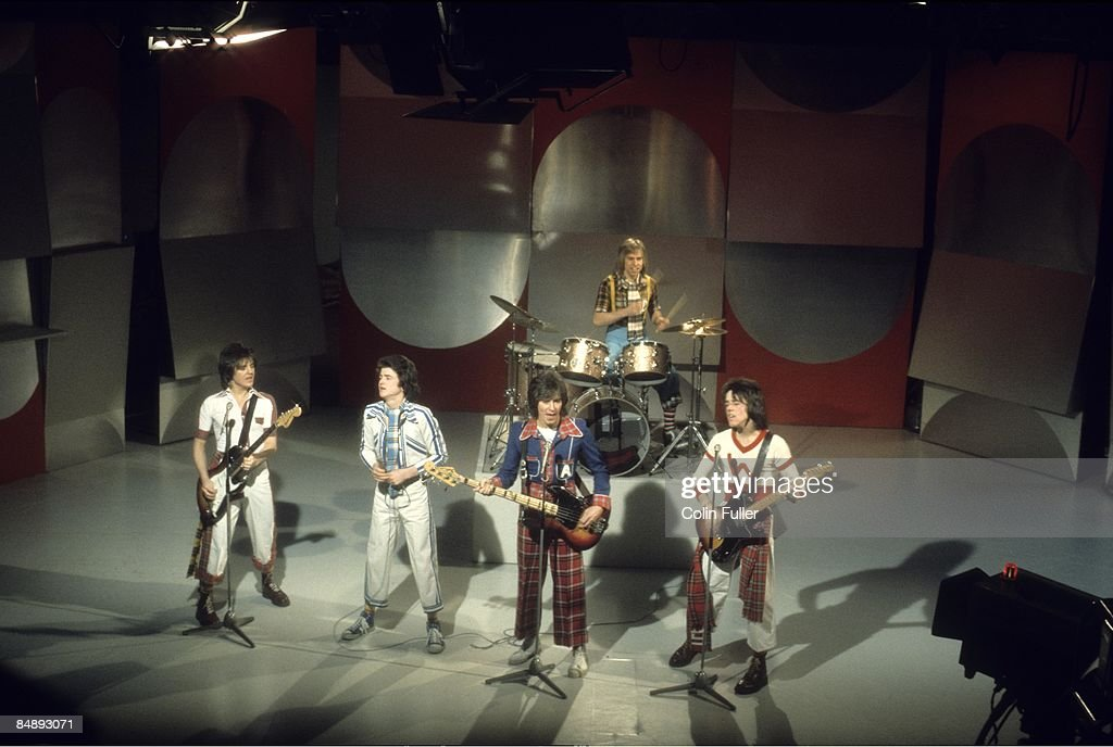 Photo of BAY CITY ROLLERS and Eric FAULKNER and Les McKEOWN and Alan LONGMUIR and Derek LONGMUIR and Stuart WOOD : News Photo