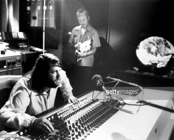 Photo of BEACH BOYS and Brian WILSON Brian Wilson in a recording studio