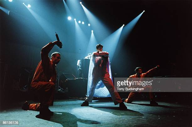 Photo of BEASTIE BOYS; MCA, Mike D & Ad-Rock