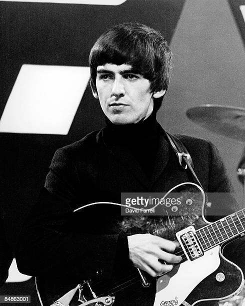 STARS Photo of BEATLES and George HARRISON of The Beatles performing at Alpha Television Studios Aston Birmingham playing Gretsch 6122 Country...