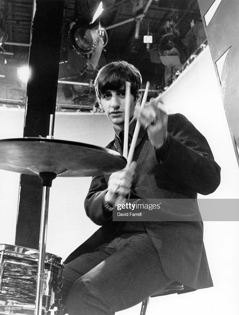 STARS Photo Of BEATLES And Ringo STARR With The Beatles Posed Holding Drum