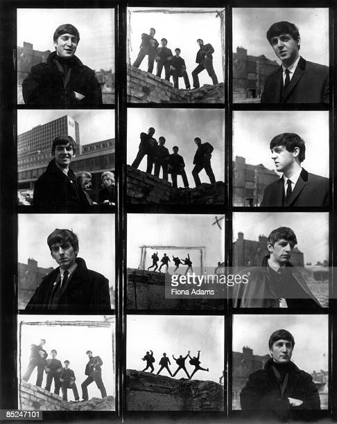 Photo of BEATLES Contact sheet for early session