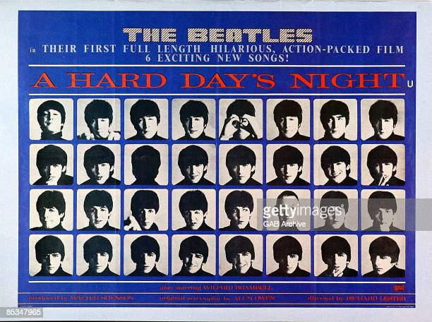 Photo of BEATLES Film poster for A Hard Day's Night