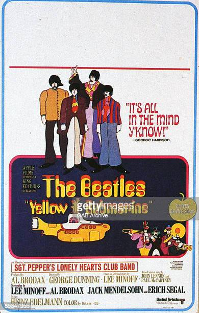 Photo of BEATLES Film poster for Yellow Submarine
