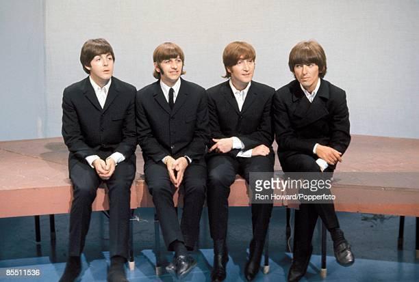 POPS Photo of BEATLES LR Paul McCartney Ringo Starr John Lennon George Harrison posed group shot