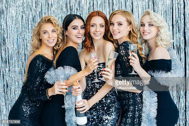 Photo of beautiful girls celebrating new year