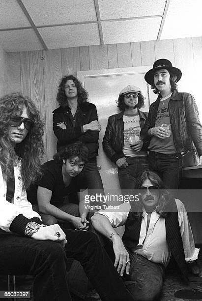 Photo of Bernie MARSDEN and Ian PAICE and Jon LORD and Micky MOODY and WHITESNAKE and Neil MURRAY and David COVERDALE LR David Coverdale Bernie...