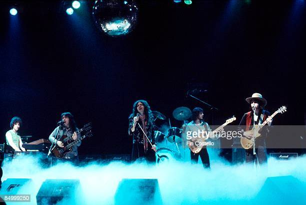 STUDIOS Photo of Bernie MARSDEN and WHITESNAKE and Pete SOLLEY and Neil MURRAY and Micky MOODY and David COVERDALE LR Pete Solley Bernie Marsden...