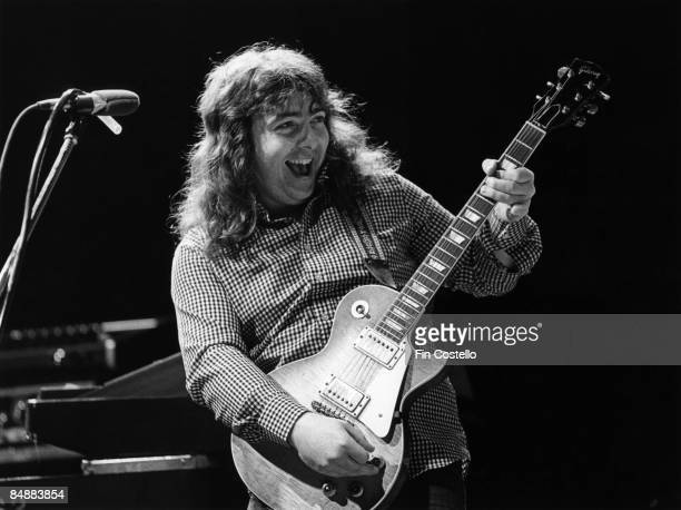 STUDIOS Photo of Bernie MARSDEN and WHITESNAKE Bernie Marsden performing live onstage playing Gibson Les Paul guitar
