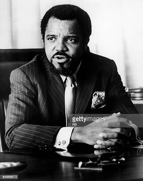 Photo of Berry GORDY Motown boss Berry Gordy in his office