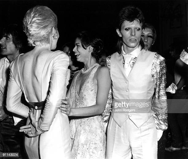 ROYAL Photo of Bianca JAGGER and Angie BOWIE and David BOWIE with wife Angie Bowie Bianca Jagger