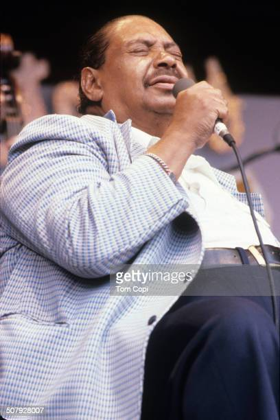Photo of Big Joe Turner performing in Monterey California Circa 1980