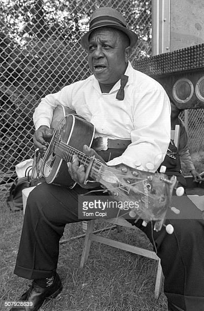 Photo of Big Joe Williams performing in Ann Arbor Michigan Circa 1969