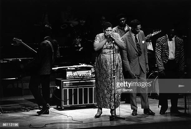 HALL Photo of Big Mama THORNTON and AMERICAN FOLK BLUES FESTIVAL and Buddy GUY and JB LENOIR Buddy Guy Big Mama Thornton Shaky Horton JB Lenoir