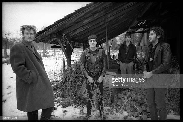 Photo of Big Paul FERGUSON and YOUTH and Geordie WALKER and KILLING JOKE LR Geordie Walker Jaz Coleman Big Paul Ferguson Martin 'Youth' Glover...