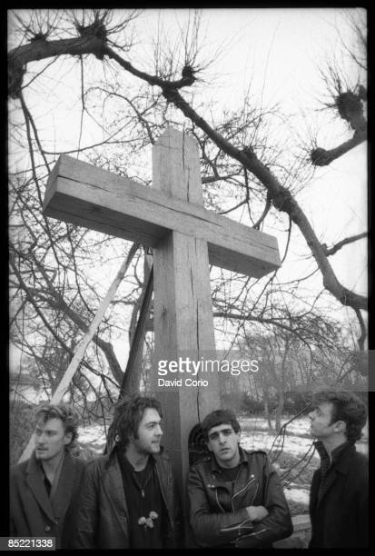 Photo of Big Paul FERGUSON and YOUTH and Geordie WALKER and KILLING JOKE LR Geordie Walker Martin 'Youth' Glover Jaz Coleman Big Paul Ferguson...