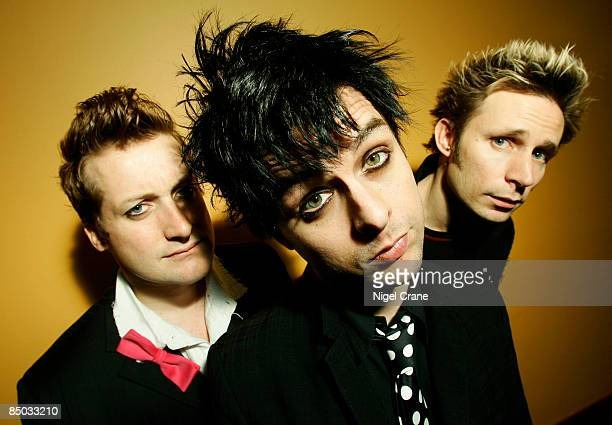 Photo of Billie Joe ARMSTRONG and Mike DIRNT and GREEN DAY and Tre COOL LR Tre Cool Billie Joe Armstrong Mike Dirnt