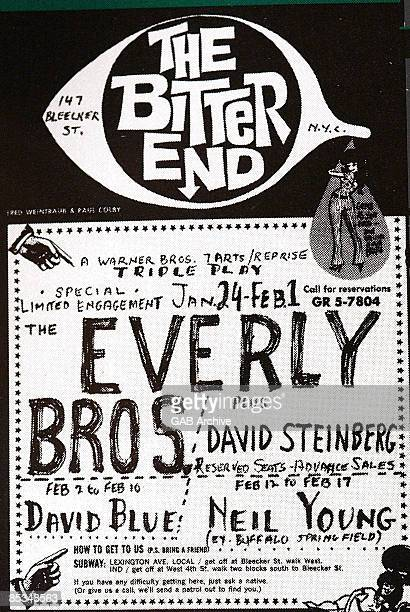 Photo of BITTER END and CONCERT POSTERS and EVERLY BROTHERS Concert poster for Bitter End gig
